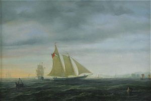 Marin Med Segelfartyg - Aftonstämning by Per Wilhelm CEDERGREN
