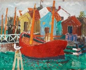 Motiv Från Gullholmen by Olle OLSSON HAGALUND