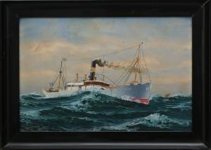 Skeppsporträtt Av Fartyget Karlsborg by Olaf GULBRANDSEN
