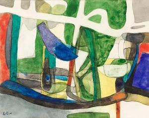 Komposition I Grönt by Maurice ESTEVE