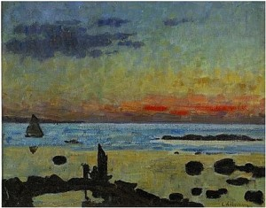 Segelbåt I Solnedgång by Carl WILHELMSON