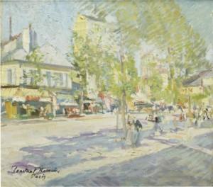 Parisian Street View by Konstantin Alexeievich KOROVIN