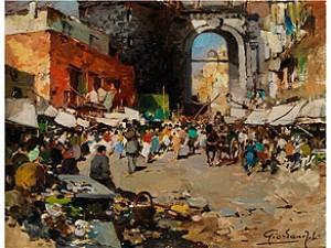 Strassenmarkt In Neapel by Felice GIORDANO