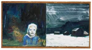 Vinter - Skolvägen by Hans WIGERT