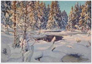 Vinterlys by Anshelm SCHULTZBERG