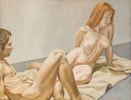 Naked Man And Woman by Philip PEARLSTEIN