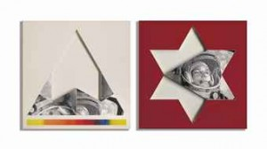 Gagarin, Star, Triangle by Joe TILSON