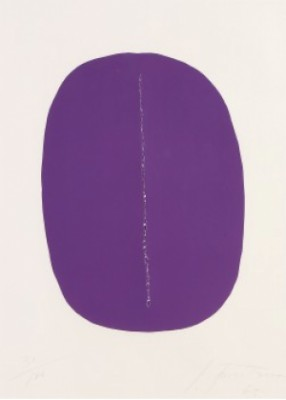 Concetto Spaziale (ovale Violet Avec Fente) by Lucio FONTANA