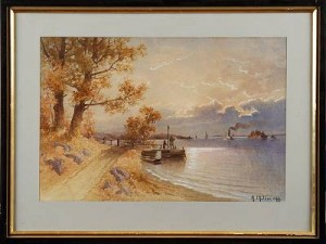 Figurer Vid Brygga by Herman MÜLLER