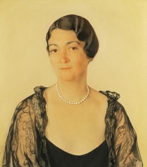 Portrait Of Alexandra Mellon Grange Hawkin by Savelii Abramovich SORINE