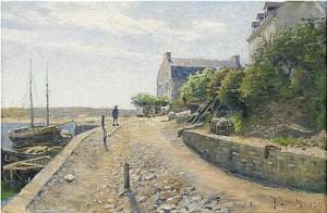Hamnparti Från Frankrike by Justus Evald LUNDEGÅRD