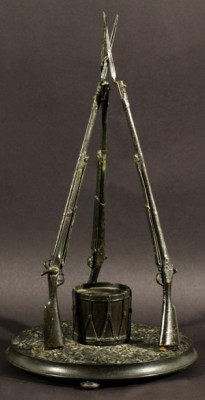 Inkwell In The Shape Of Three Bayonets Surrounding A Drum by Vasili Yakovlevich GRATCHEV
