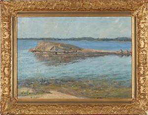 Kustlandskap by Evald KALLSTENIUS
