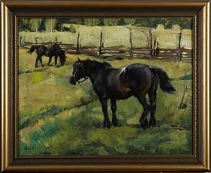 Hästar På Grönbete by Greta GERELL