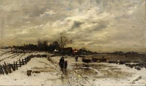 Vinterlandskap by Ludwig MUNTHE