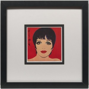 "Bookplate Depicting Liza Minelli, From ""andy Warhol's Portraits Of The 70's by Andy WARHOL"