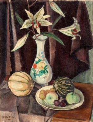 Still Life With Fruits And Flowers by Agda HOLST
