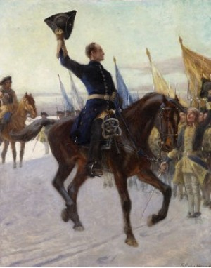 "Go Morron Gossar"" - Karl Xii Hälsar Sina Karoliner by Gustaf CEDERSTRÖM"