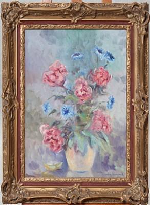 Blomsterstilleben by Henning HOUGAARD
