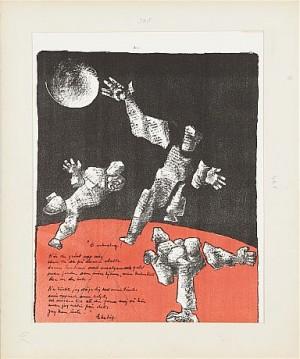 (6) Samling Grafik, Kompositioner, Signerade, Varierande Motiv Och Mått by Bror MARKLUND