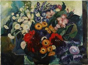 Blomsterstilleben by Elsa STRÖM-CIACELLI