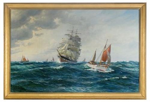 Segelfartyg Och Fiskebåtar by Jens Christian ANDRESEN