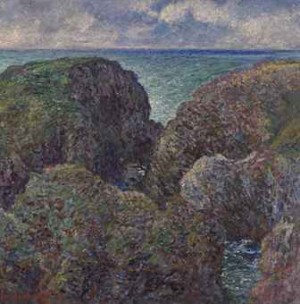 Bloc De Rochers à Port-goulphar by Claude MONET