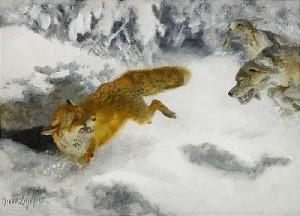 Grytjakt by Bruno LILJEFORS