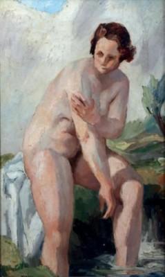 Nu à La Fontaine by Charles KVAPIL