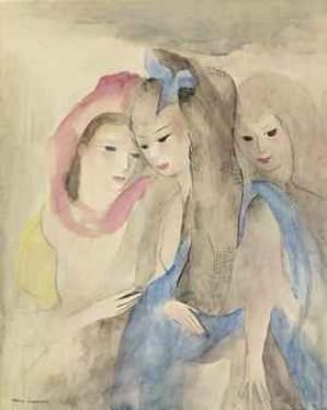 Trois Jeunes Femmes by Marie LAURENCIN