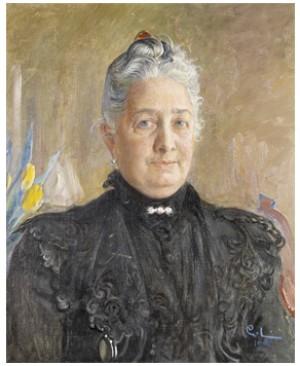 Porträtt Föreställande Louise Magnus F. Fürstenberg by Carl LARSSON