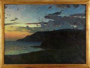 Kust I Skymningsljus by Alfred BERGSTRÖM
