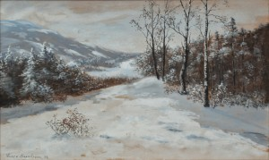 Landskapsmotiv I Vinterskrud by Theresia Lisen SANDSTRÖM