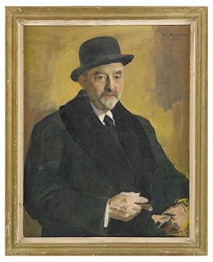 Portait Of Artist Friend Vasiili Levi (1874-1954) by Filip Andreevich MALIAVIN