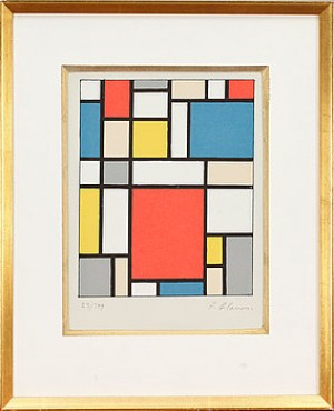 Composition Neoplasticiste (hommage á Mondrian) by Franciska CLAUSEN