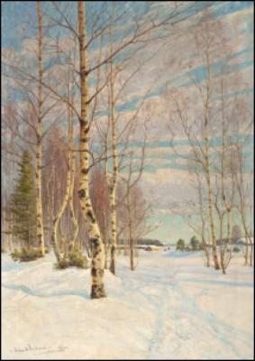 Klar Vinterdag by Edvard WESTMAN