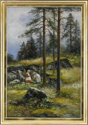 Barn På Skogspromenad by Severin NILSON