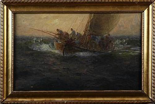 : Makrillfiske - Marinmotiv by Emil EKMAN