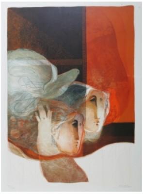 Kvinnor I Profil Samt Duva by Alvar 'Alvar' SUÑOL MUÑOZ RAMOS