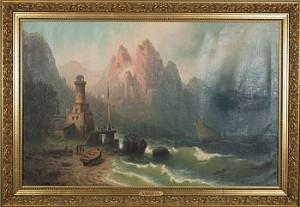 Stormigt Hav by Albert BREDOW