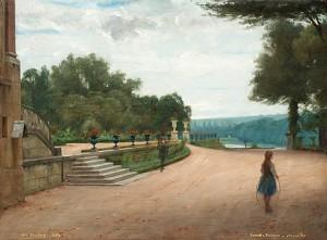 Parkmotiv Från Versailles by Nils The Elder FORSBERG