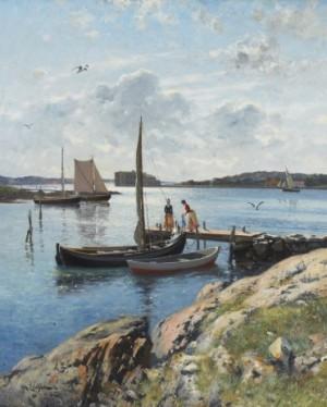 På Bryggan, Sommarmotiv Från Marstrand by Johan ERICSON