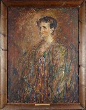 Porträtt Föreställande Julia Jolin Född Carlson by Wilhelmina 'Mina' CARLSON-BREDBERG