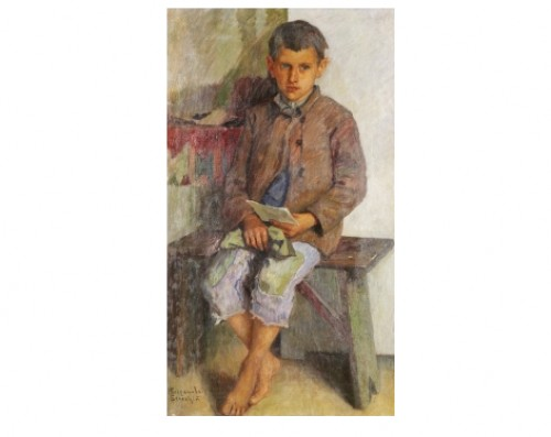 Portrait Of A Boy by Nikolai Petrovich BOGDANOV-BELSKY