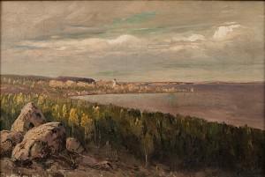 Landskap Med Kyrka by Nikolai Alexandrovich KLODT