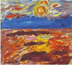 Solnedgång by Inge SCHIÖLER