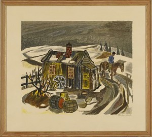 Man Till Häst I Landskap by Reidar 'Aulie' AULIE