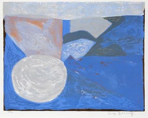 Composition Bleue, (lit: Poliakoff-schneider 21, Riviere 21) by Serge POLIAKOFF