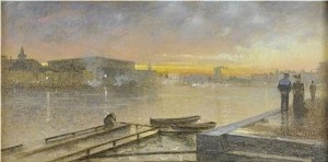 Utsikt Från Skeppsholmen - Solnedgång by Eugène JANSSON