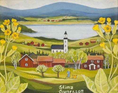 Sommarlandskap Från Dalarna - 2 St by Stina SUNESSON